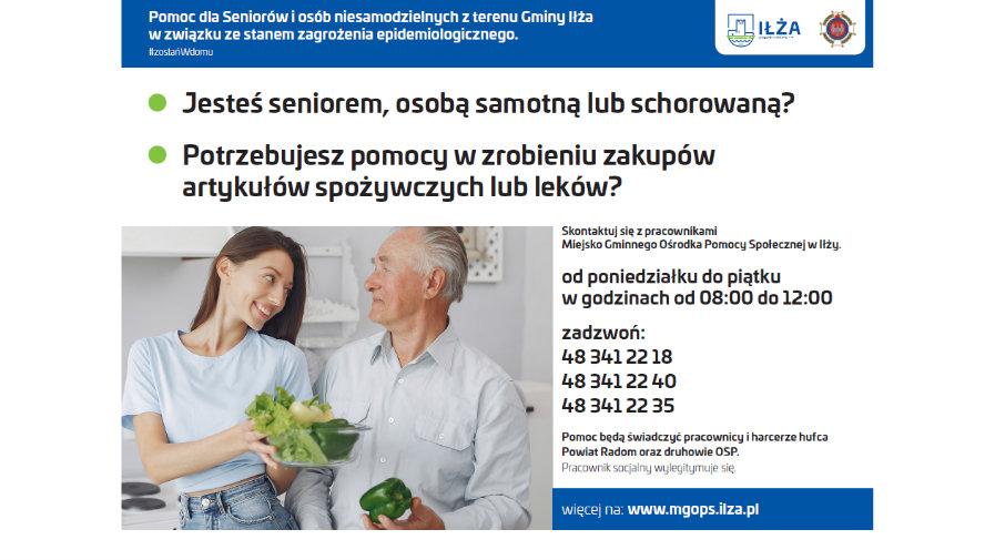 MGOPS w Iłży dostarczy zakupy seniorom
