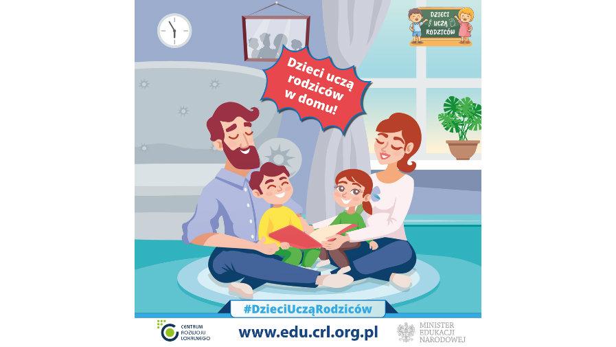 Dzieci uczą rodziców w domu