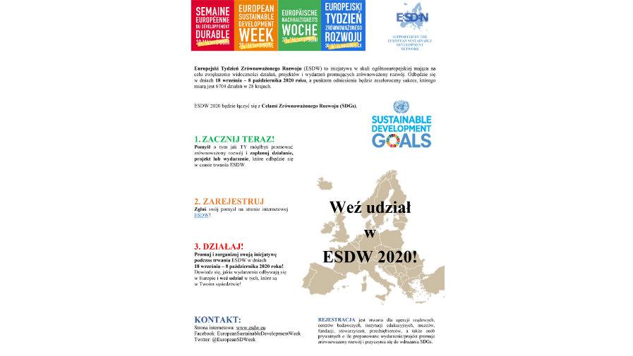 Europejski Tydzień Zrównoważonego Rozwoju