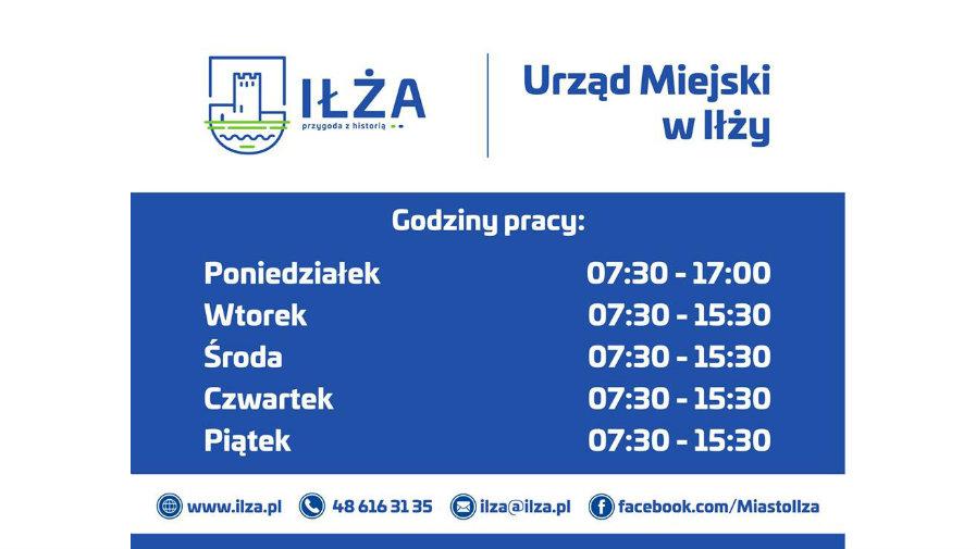 Nowe godziny otwarcia Urzędu Miejskiego w Iłży